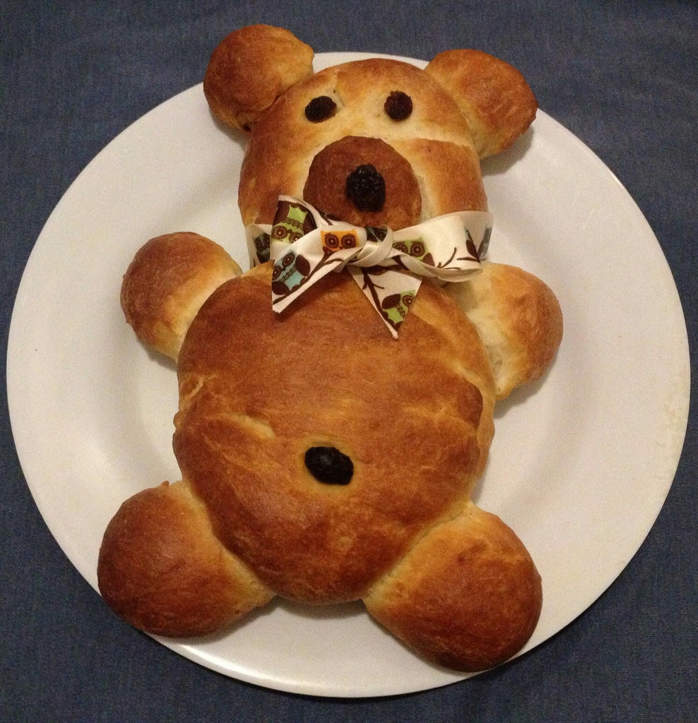 Teddy  Bear (chocolate Stuffed) Bread