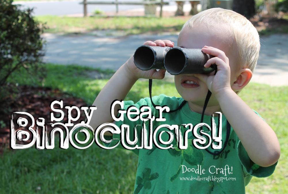 Spy Gear Binoculars!  Little Boy crafts!  From Toilet Paper rolls!