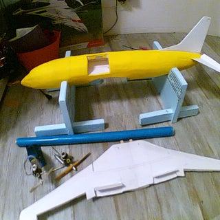 Rc Depron Boeing 737-500 40mm Edf