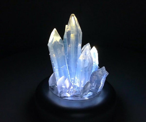 Simple HOT GLUE Crystal Sculpture With Light! :-)