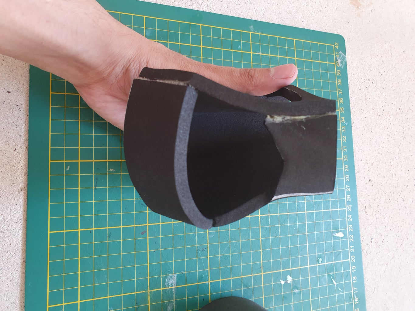 Glueing and Velcro.