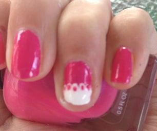 Cute Pink Lace Nail Art