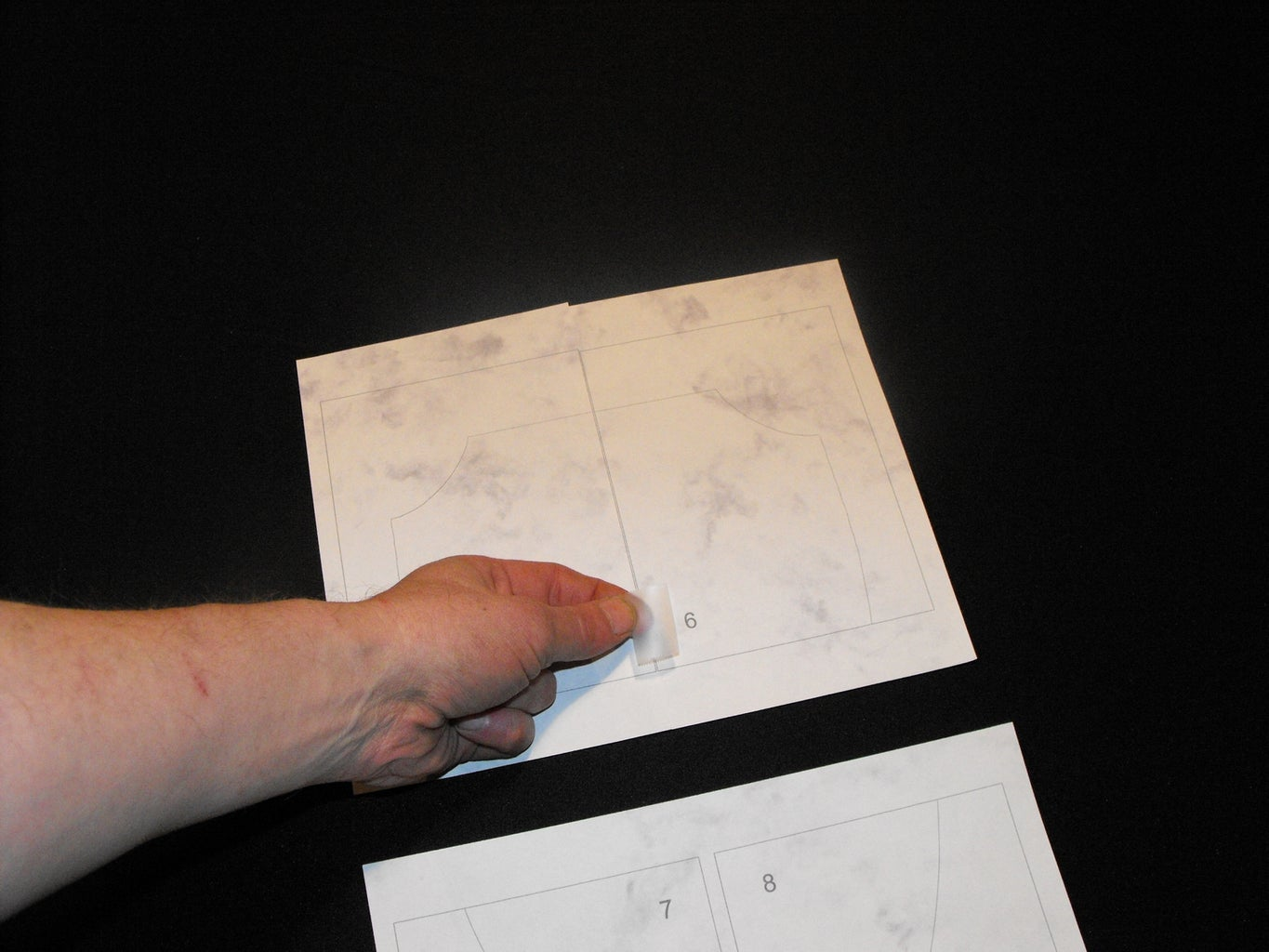 Assemble Printed Template Pages