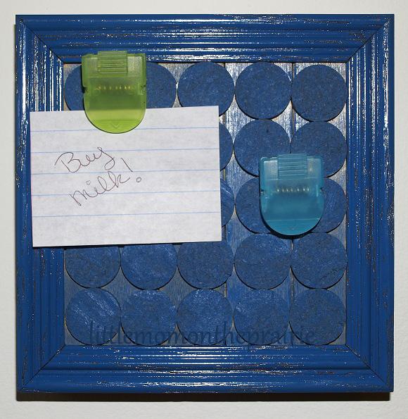 Painted Cork Memo Board