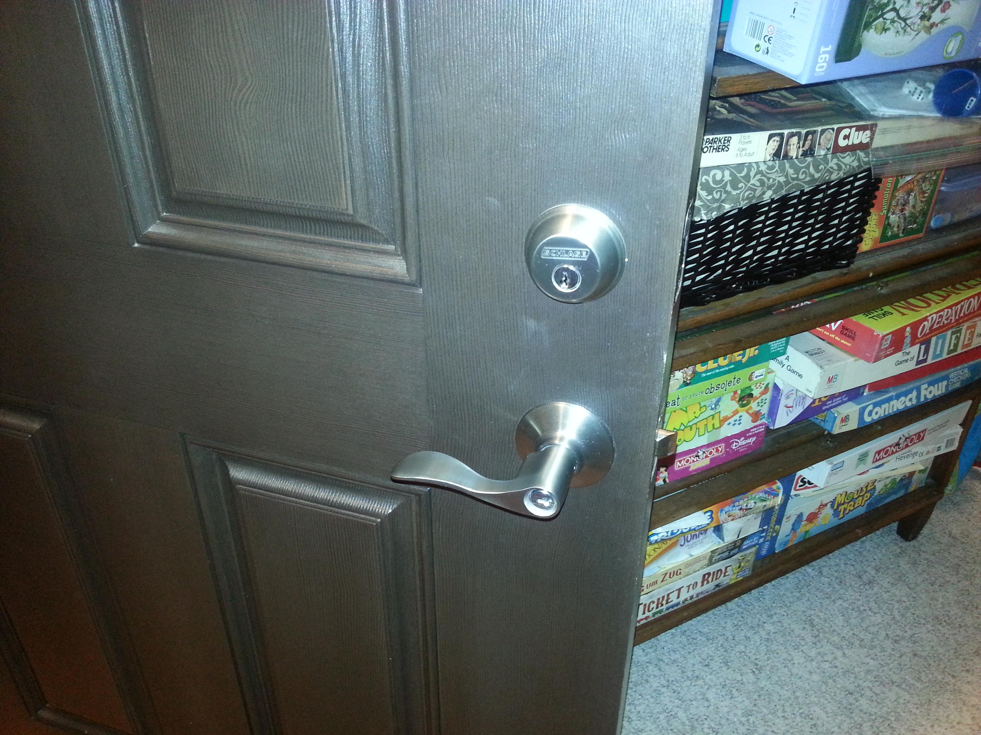 Fix Schlage free egress locks