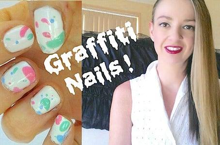 HOW TO CREATE GRAFITTI SPLATTER NAIL ART!