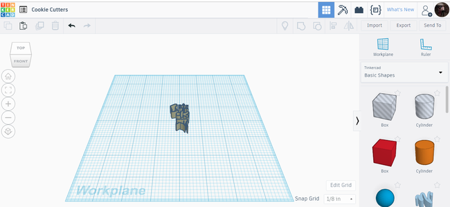 Transferring a Picture Into Tinkercad