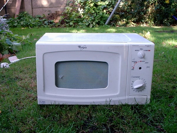 How to Take Apart a Microwave