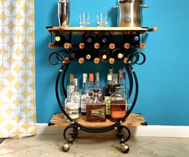 Wine & Liquor Storage Out of a Firewood Rack!
