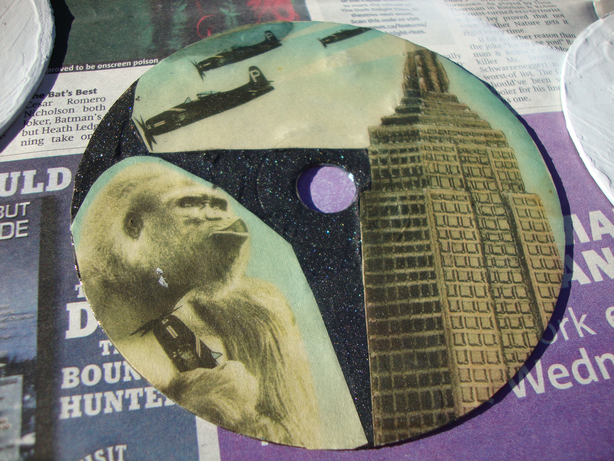 CD/DVD Decorated Coasters