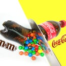 DIY Coca Cola Bottle Shape Gummy Jelly Dessert & M&M's Chocolate