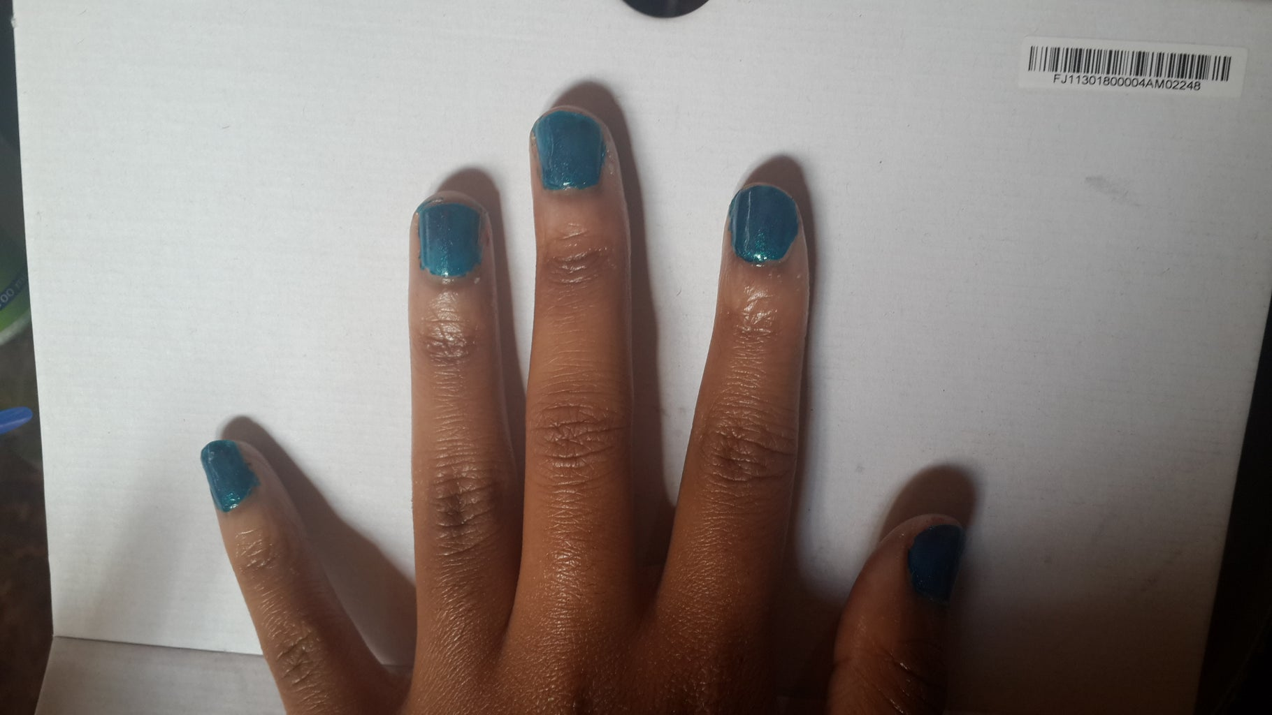 Paint Two Coats of Metalic Blue/turquoise
