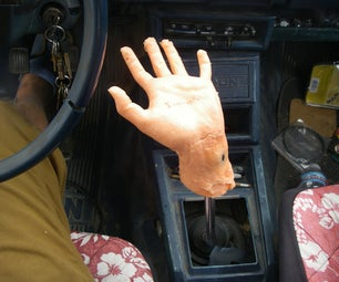 Surrealist Human Hand Stick Shifter!