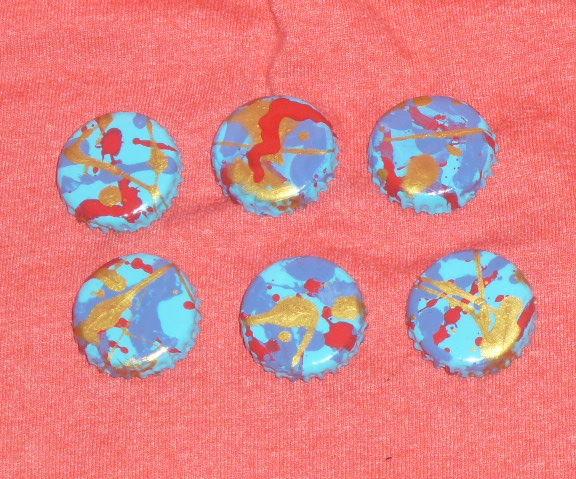 DIY Splatterpainted Magnets