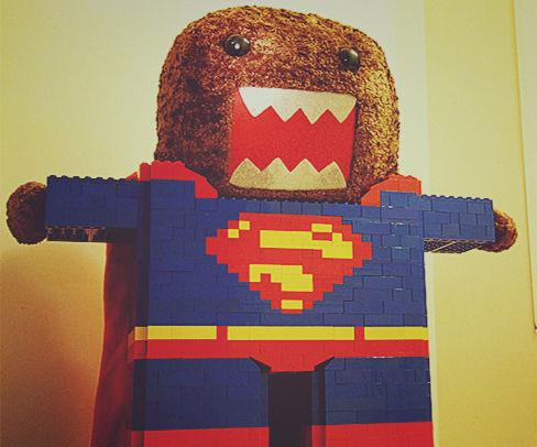 Super Domo's lego superman suit