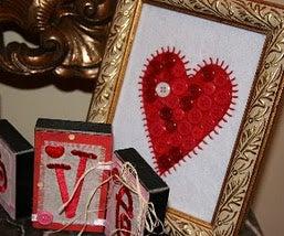 Valentine's Heart Button Frame