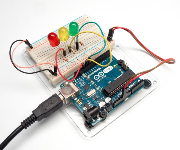 Multiple LEDs & Breadboards With Arduino in Tinkercad