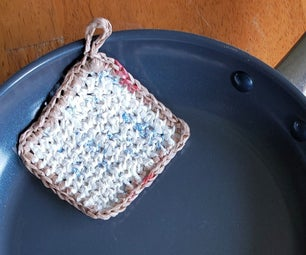 Plastic Bag Pot Scrubbie