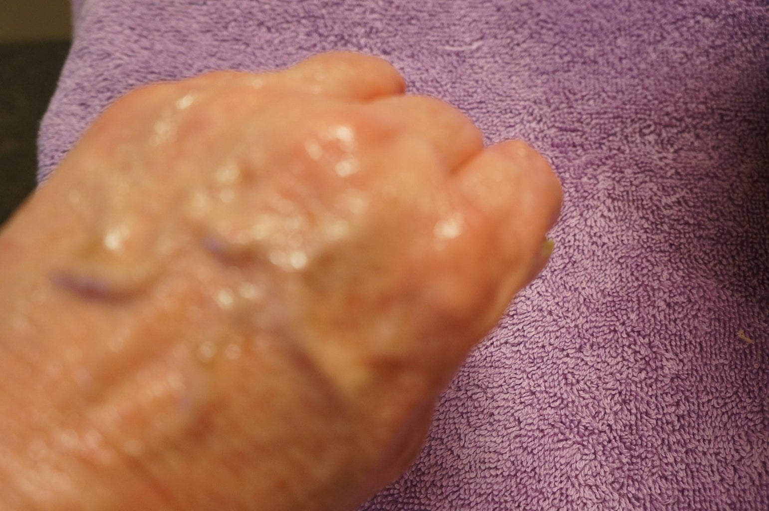 Oil Hands and Apply Wax Mixture
