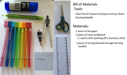 Bill of Materials and Tools Needed