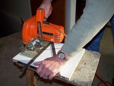 Cut Off Guide for a Circular Saw