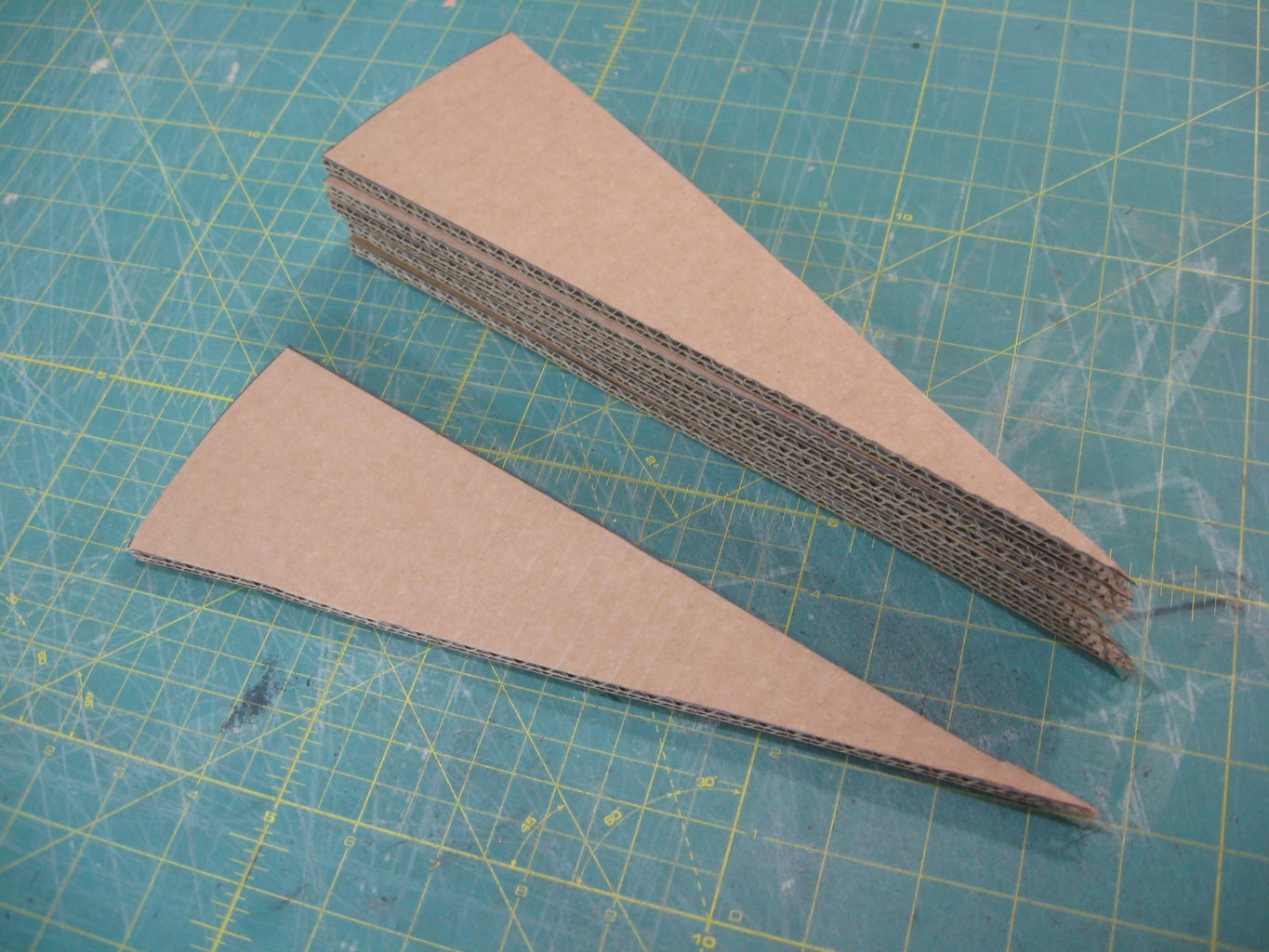 Cut Out Cardboard Wedges