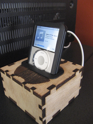 Laser Cut Ipod Dock