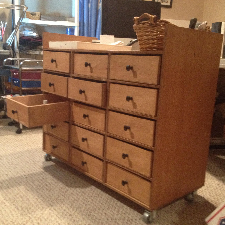 Rolling Drawer Desk/Craft Station