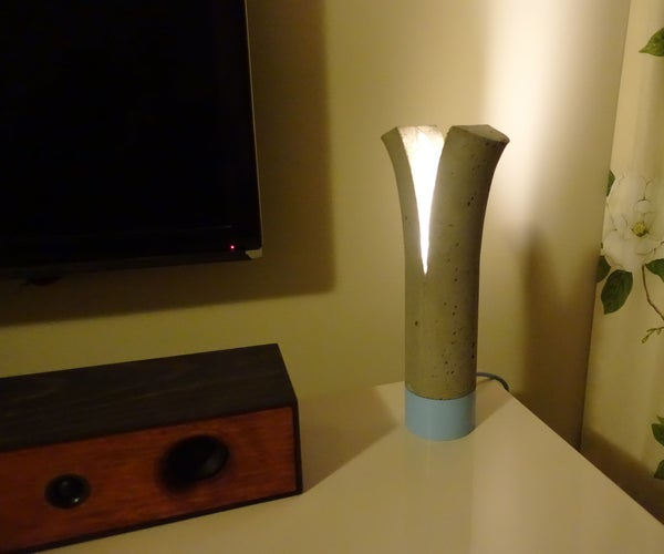 """Concrete Lamp - """"Cleaved Light"""""""