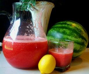 西瓜草莓柠檬水