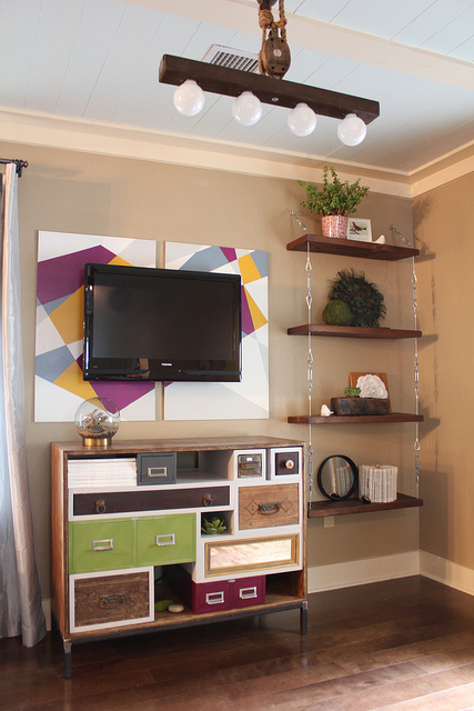 How to Make Suspended Shelves with Steel Cable and Turnbuckles