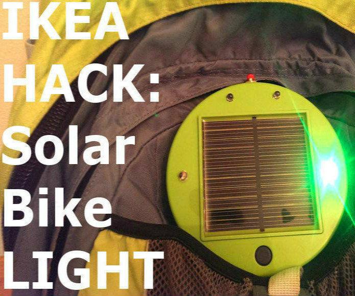 IKEA Hack: Solar Powered Bike Light