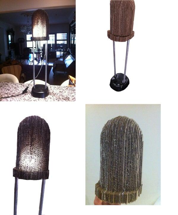 Giant Cardboard LED Lamp