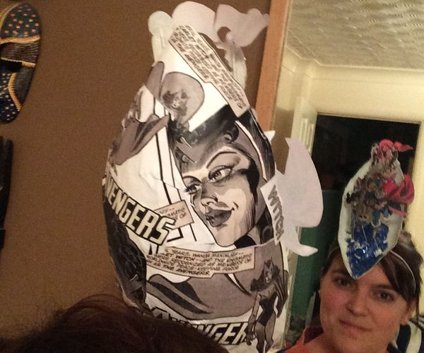 Paper Mache 3d Hat (Scarlet Witch)