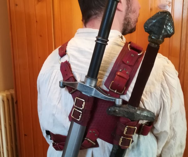Witcher-inspired Working Back Scabbard