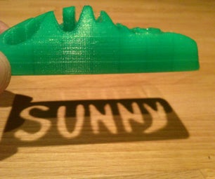 3D Printed Toy Car With a Cut Out Name