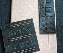 3D Printed Bullet Journal Stencils