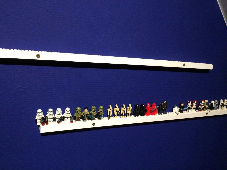 Awesome Lego Figure Shelf