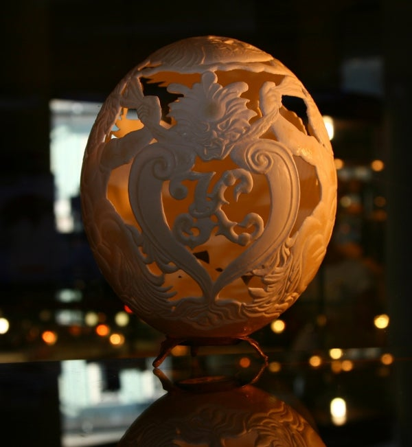 My Carving Ostrich Shell