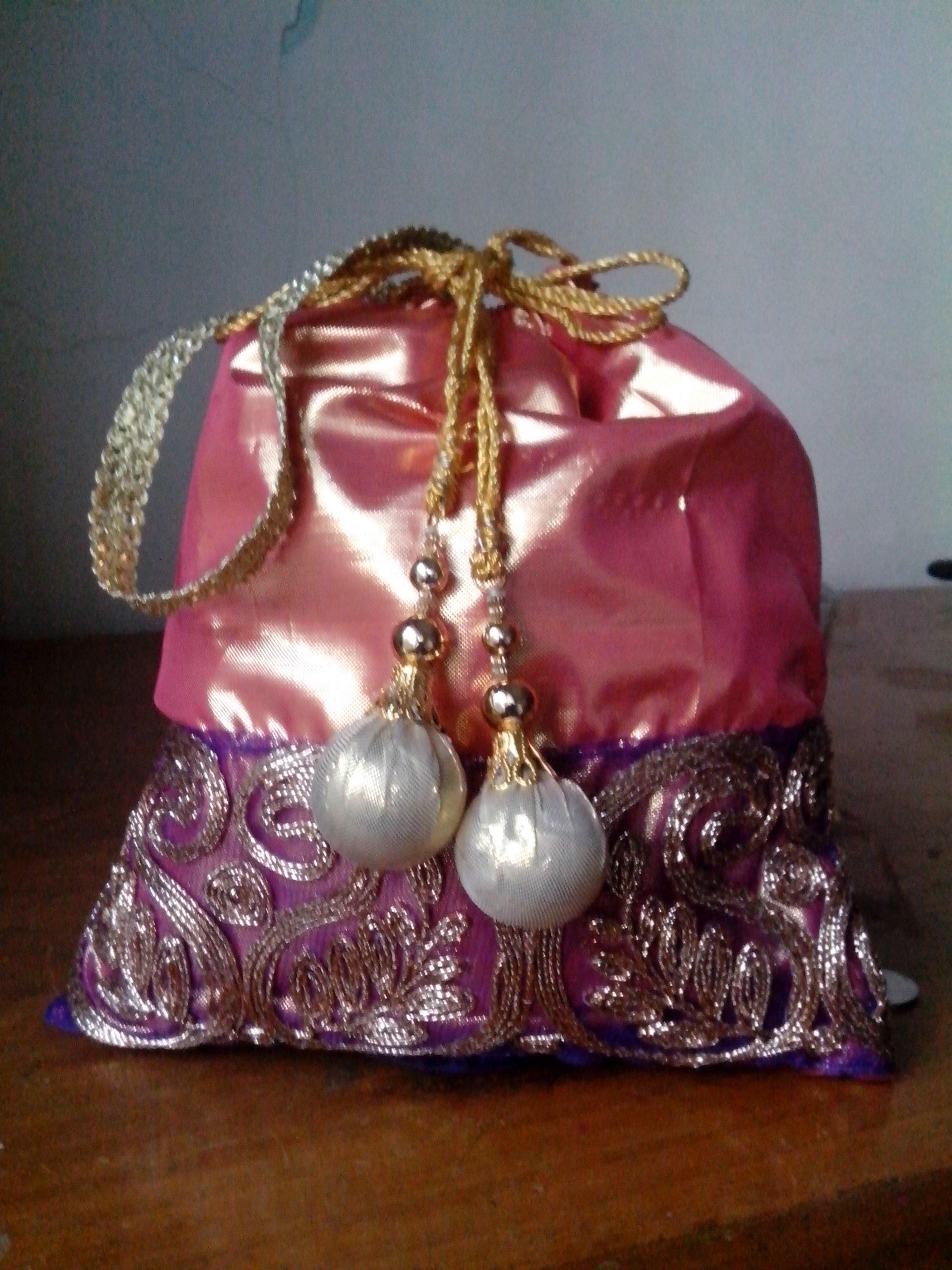 DIY ethnic purse