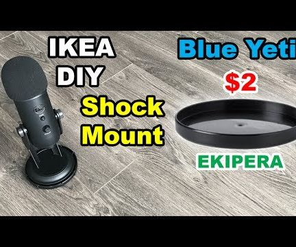 Shock Mount for Blue Yeti USB Microphone From IKEA