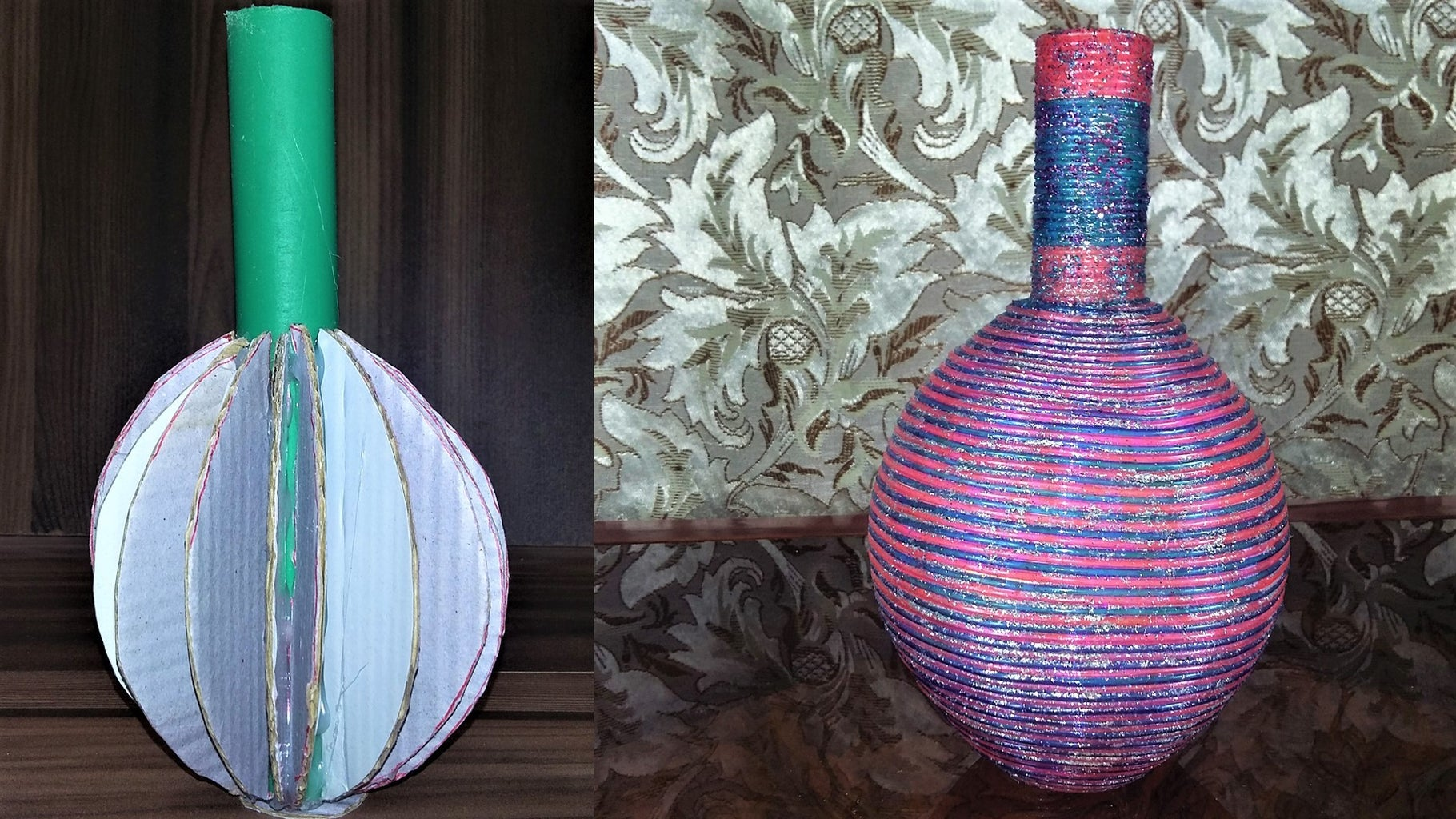 How to Make Vase From PVC Pipe and Cardboard