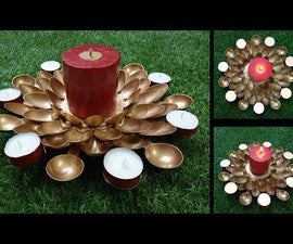 How to Make Spoon Candle Holder