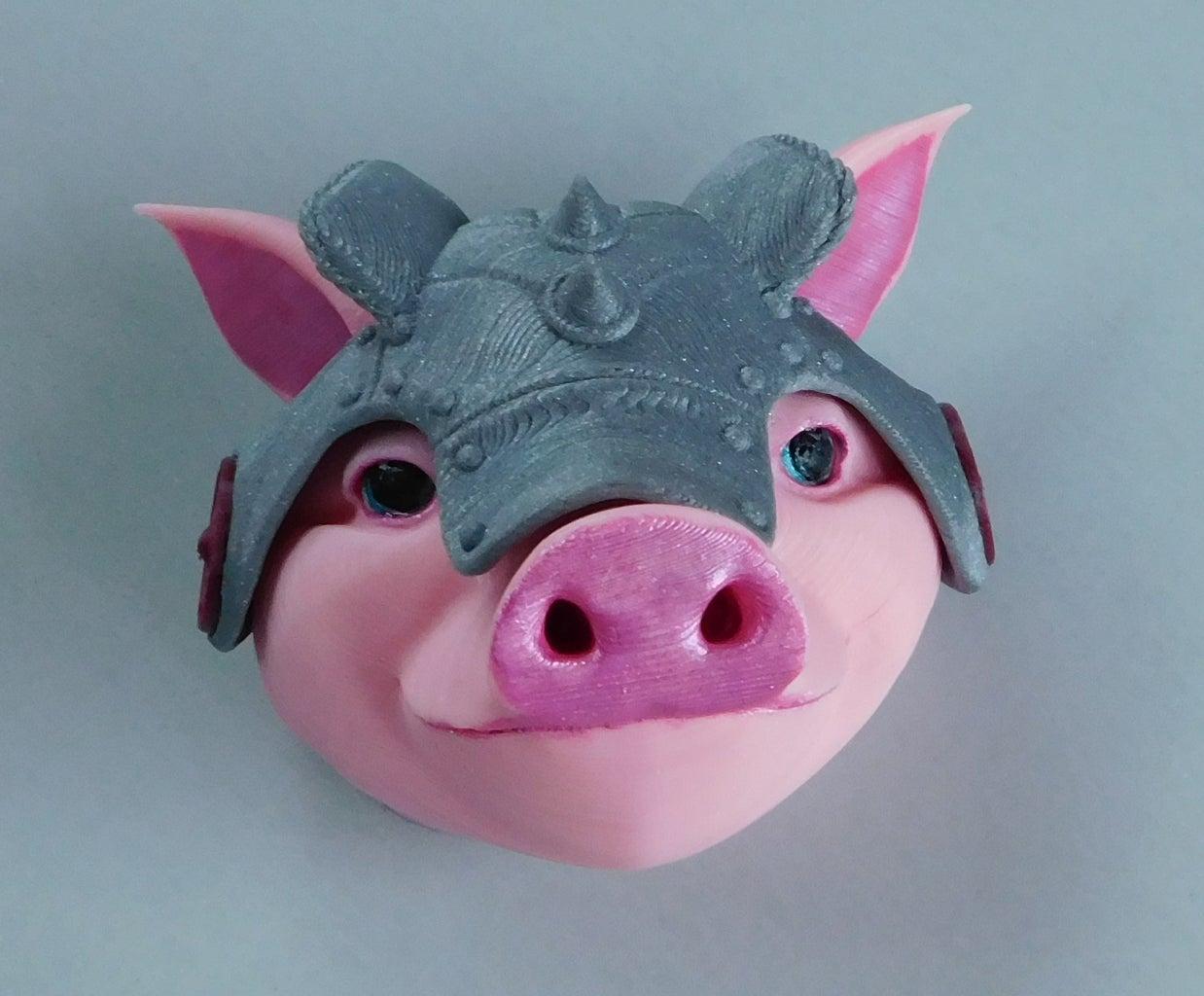 Assembling Sir Pigglesby's Head