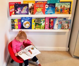 Quick and Easy Forward Facing Book Shelves