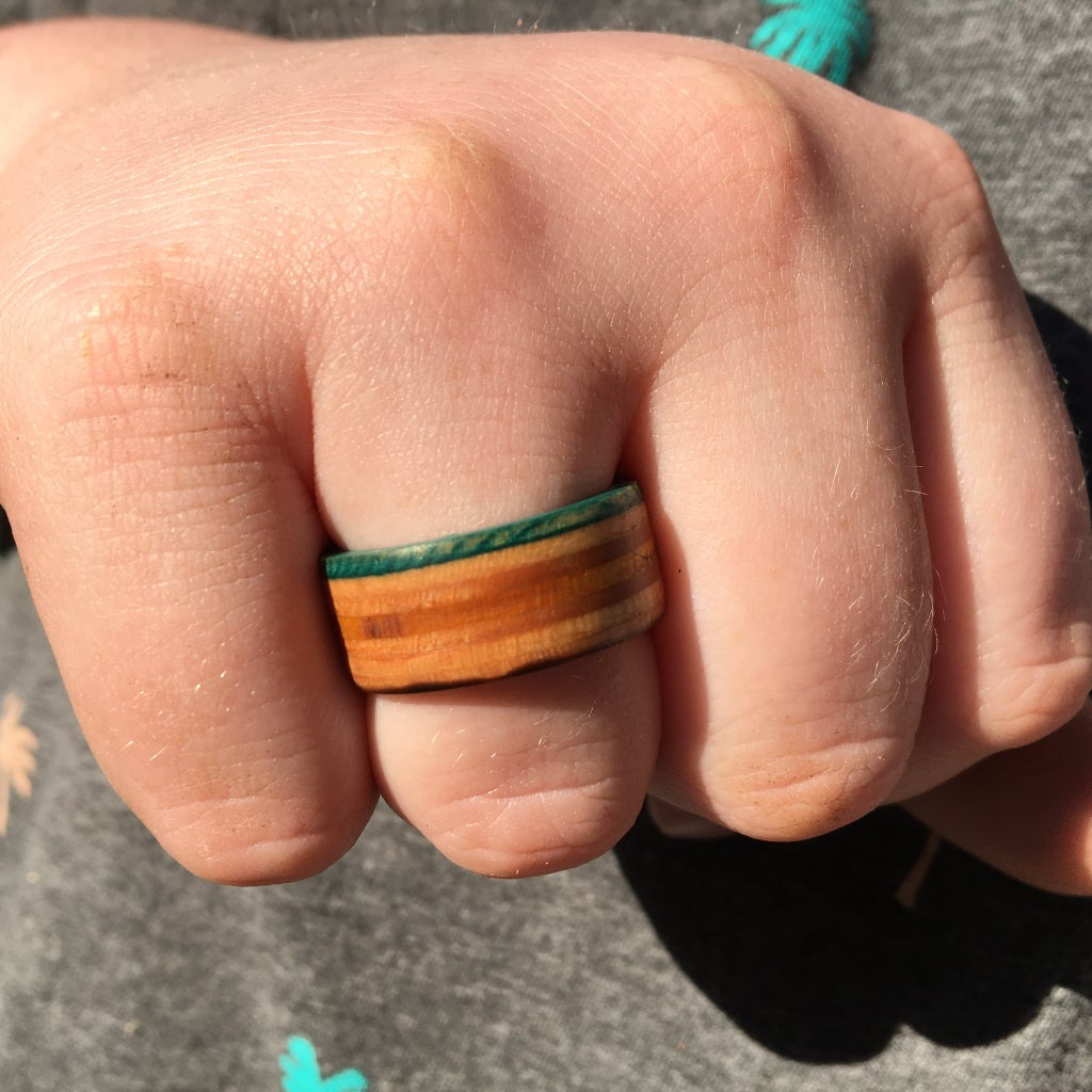 Easy Wooden or Skateboard Rings: No Lathe