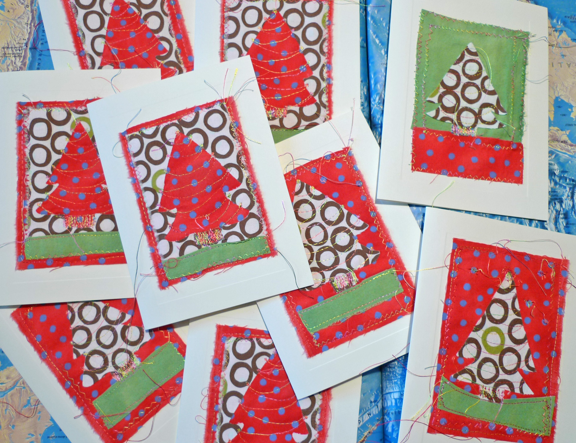 Christmas Card Sewing