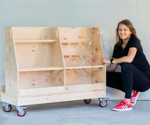 DIY Mobile Plywood and Lumber Storage Cart | Only 1 Sheet of Plywood!