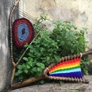 Wood & Yarn (Full & Partial Branch Weaving, Tiny Birds) - Home Decor