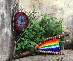 木材和纱线(全部和部分分支编织,微小的鸟类) - 家居装饰